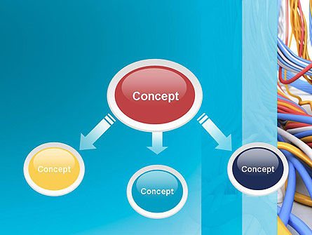 Switching Node PowerPoint Template, Slide 4, 12445, Telecommunication — PoweredTemplate.com