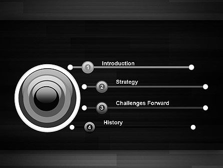 Abstract Motion Graphics PowerPoint Template Slide 3