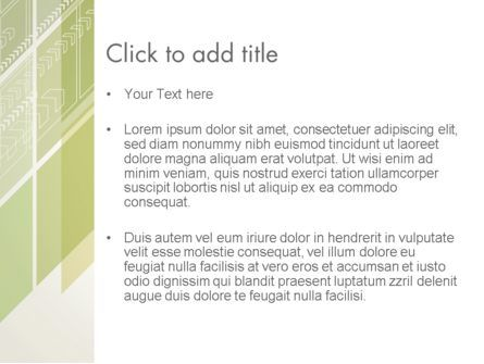 Abstract Green Layers PowerPoint Template, Slide 3, 12450, Abstract/Textures — PoweredTemplate.com