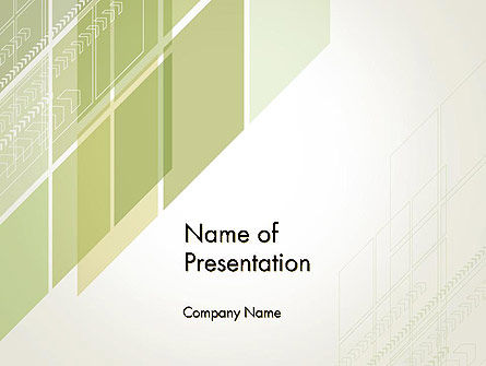 Abstract Green Layers PowerPoint Template