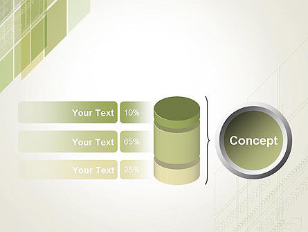 Abstract Green Layers PowerPoint Template Slide 11
