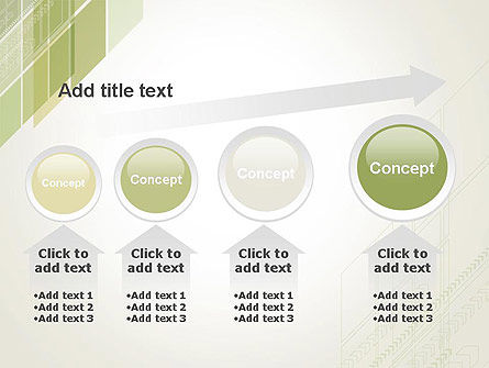 Abstract Green Layers PowerPoint Template Slide 13