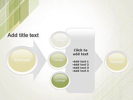 Abstract Green Layers PowerPoint Template Slide 17