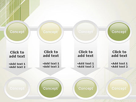 Abstract Green Layers PowerPoint Template Slide 18