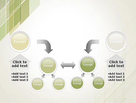Abstract Green Layers PowerPoint Template Slide 19
