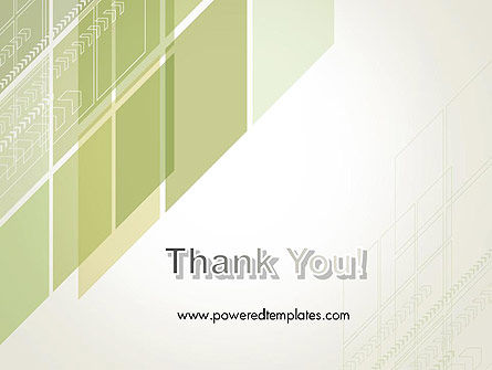 Abstract Green Layers PowerPoint Template Slide 20