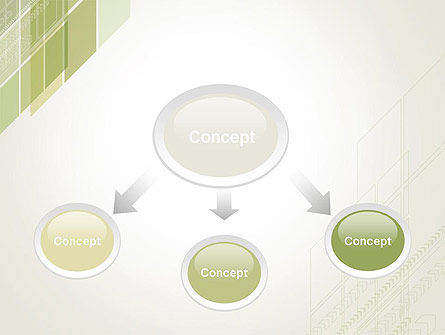 Abstract Green Layers PowerPoint Template Slide 4