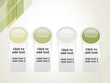 Abstract Green Layers PowerPoint Template Slide 5