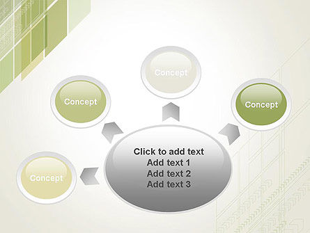 Abstract Green Layers PowerPoint Template Slide 7