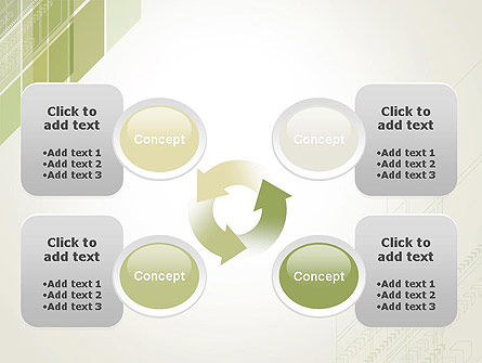 Abstract Green Layers PowerPoint Template Slide 9