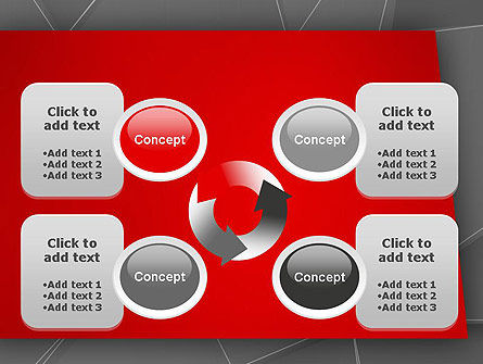 Abstract Connected Layers PowerPoint Template Slide 9