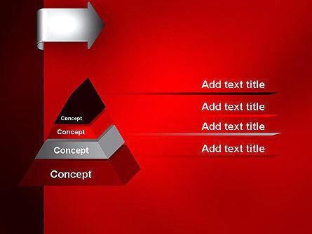 Arrow Tab PowerPoint Template Slide 12