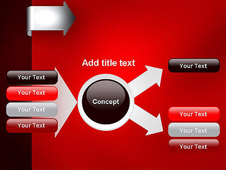 Arrow Tab PowerPoint Template Slide 14