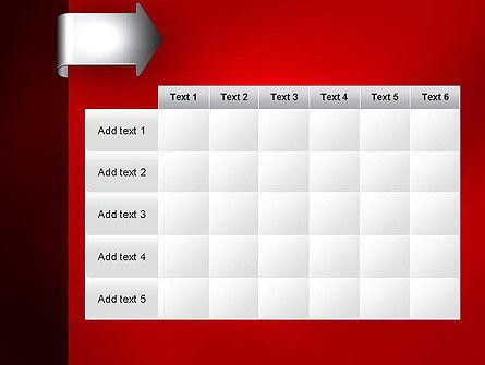 Arrow Tab PowerPoint Template Slide 15