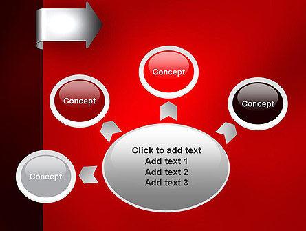 Arrow Tab PowerPoint Template Slide 7