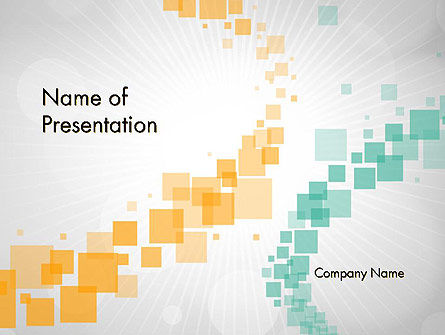 Abstract Geometric Squares PowerPoint Template