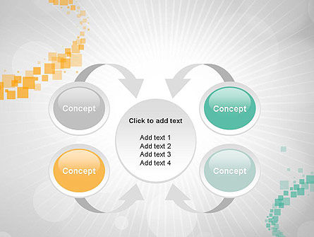 Abstract Geometric Squares PowerPoint Template Slide 6