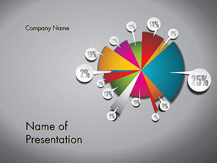 Pie Chart with Labels PowerPoint Template