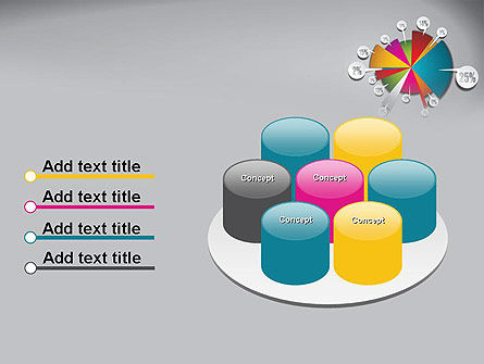 Pie Chart with Labels PowerPoint Template Slide 12