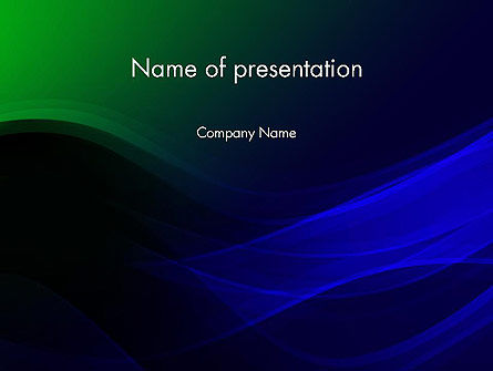 Abstract Dark Green and Blue PowerPoint Template
