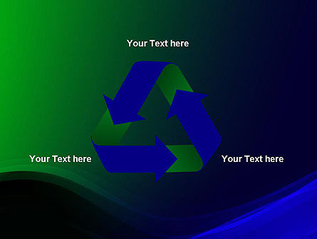 Abstract Dark Green and Blue PowerPoint Template Slide 10