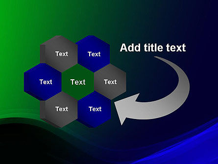 Abstract Dark Green and Blue PowerPoint Template Slide 11