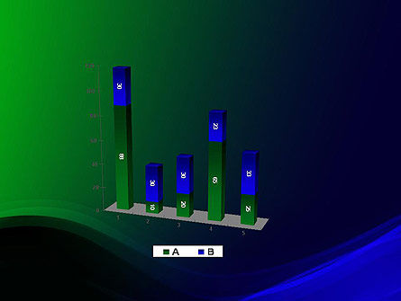 Abstract Dark Green and Blue PowerPoint Template Slide 17
