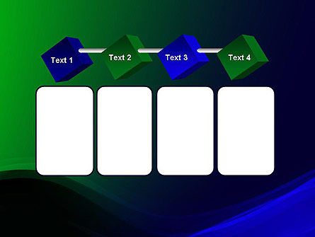 Abstract Dark Green and Blue PowerPoint Template Slide 18