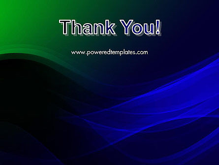 Abstract Dark Green and Blue PowerPoint Template Slide 20
