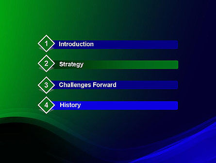 Abstract Dark Green and Blue PowerPoint Template Slide 3