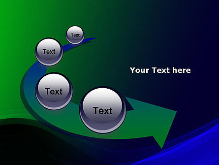 Abstract Dark Green and Blue PowerPoint Template Slide 6
