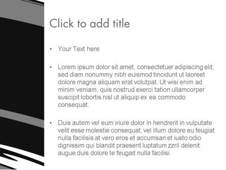 Abstract Monochrome Smudges PowerPoint Template, Slide 3, 12469, Abstract/Textures — PoweredTemplate.com