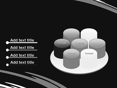 Abstract Monochrome Smudges PowerPoint Template Slide 12