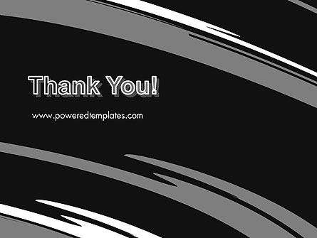 Abstract Monochrome Smudges PowerPoint Template Slide 20