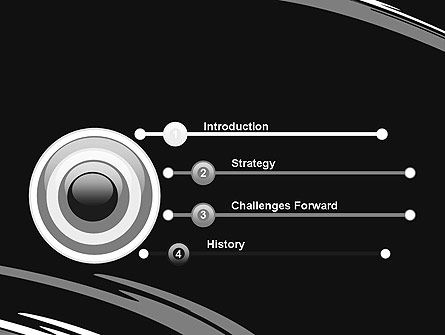 Abstract Monochrome Smudges PowerPoint Template Slide 3