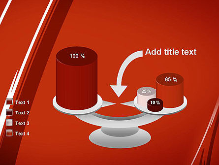Abstract Red Smudges PowerPoint Template Slide 10