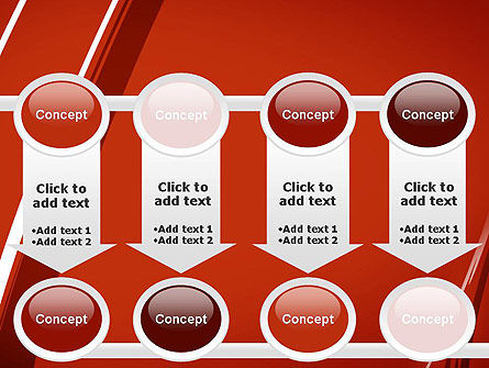 Abstract Red Smudges PowerPoint Template Slide 18