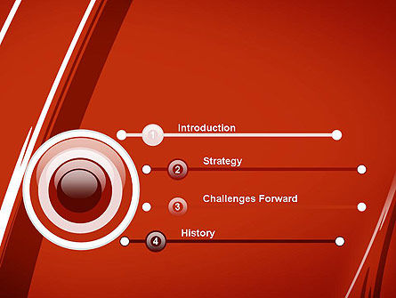 Abstract Red Smudges PowerPoint Template Slide 3