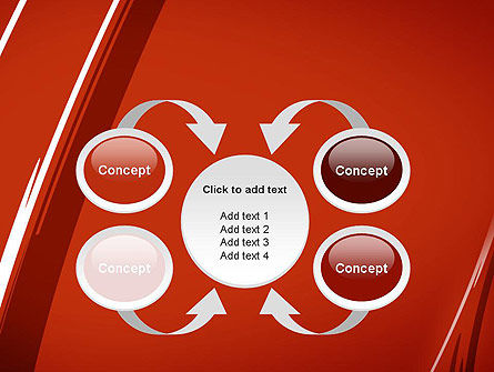 Abstract Red Smudges PowerPoint Template Slide 6