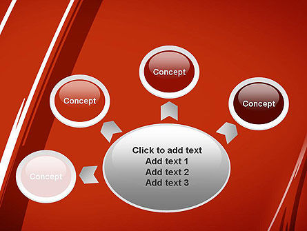 Abstract Red Smudges PowerPoint Template Slide 7