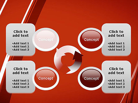 Abstract Red Smudges PowerPoint Template Slide 9