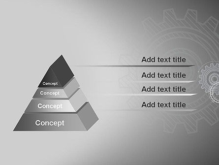 Mechanical Gears Draft PowerPoint Template Slide 12
