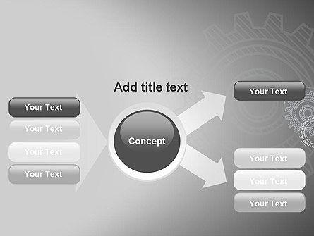 Mechanical Gears Draft PowerPoint Template Slide 14
