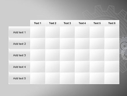 Mechanical Gears Draft PowerPoint Template Slide 15