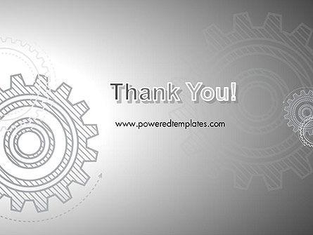 Mechanical Gears Draft PowerPoint Template Slide 20