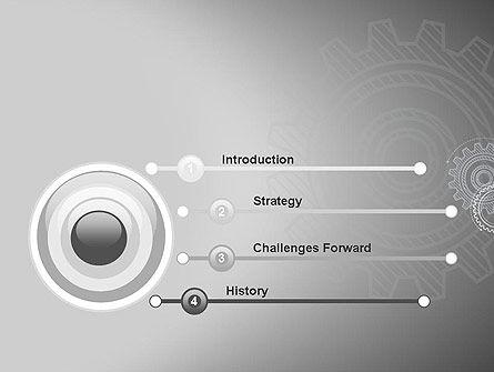 Mechanical Gears Draft PowerPoint Template Slide 3