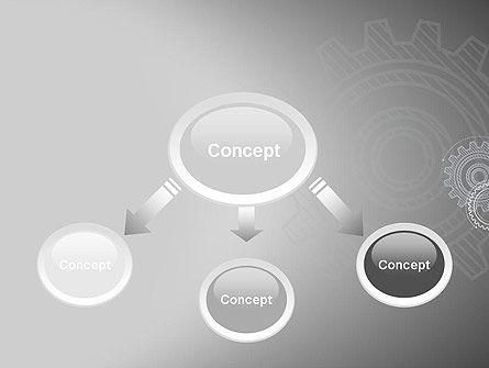 Mechanical Gears Draft PowerPoint Template, Slide 4, 12472, Utilities/Industrial — PoweredTemplate.com