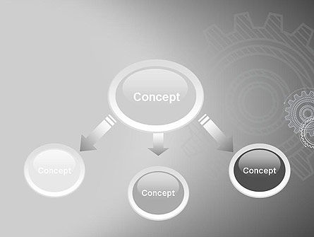 Mechanical Gears Draft PowerPoint Template Slide 4