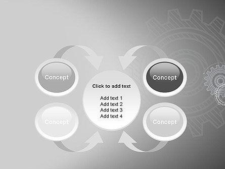 Mechanical Gears Draft PowerPoint Template Slide 6