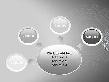 Mechanical Gears Draft PowerPoint Template Slide 7